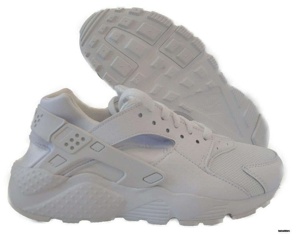 a0c48e8bcc eBay #Sponsored 654275-110 Nike Huarache Run (White / Pure Platinum) Grade  School Sneaker