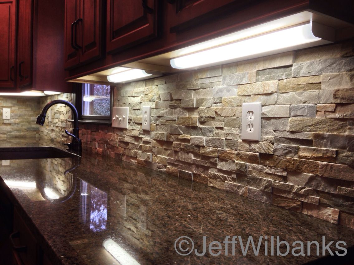 Granite Ledgestone Backsplash Granite Tops Copper Farm Sink