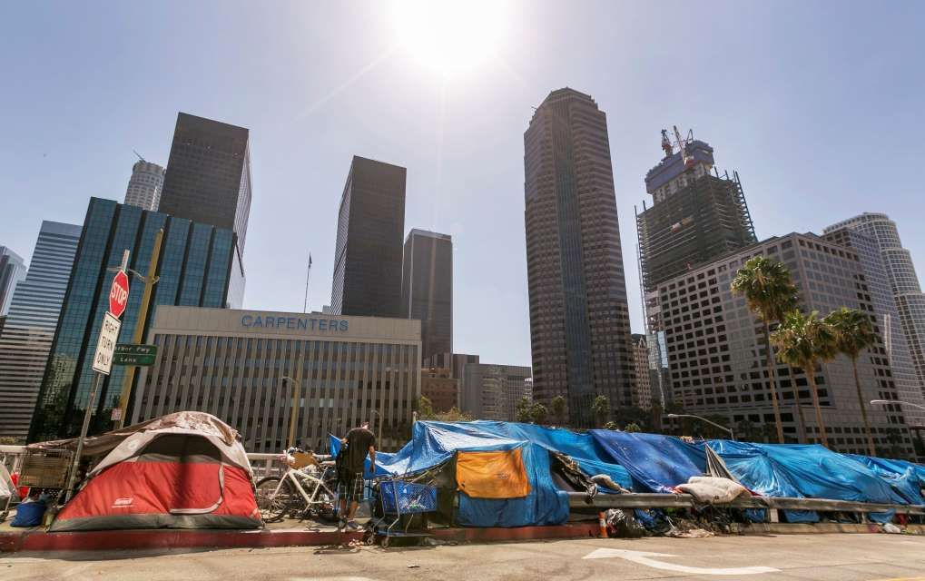 La Officials To Declare State Of Emergency On Homelessness Downtown Los Angeles Streets Los Angeles Homeless People
