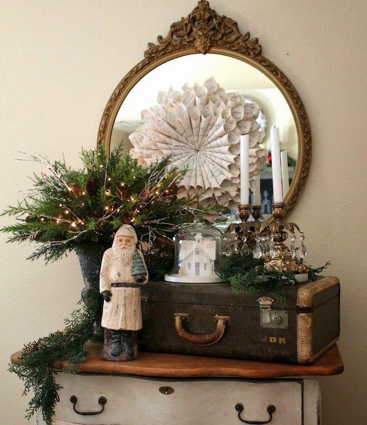 Alter Koffer Deko alter koffer deko weihnachten vintage antike möbel spiegel