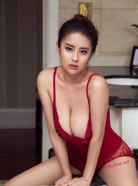 Hot Girl Wang Ying In The Red Bikini Hot Asian Girls In