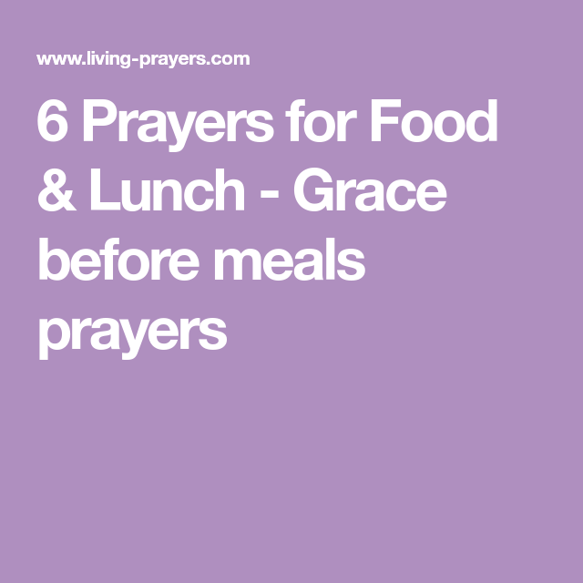 19++ Simple prayer for food blessing inspirations