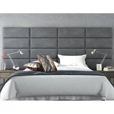 vant panels upholstered headboard panels size h x w x d upholstery suede gray