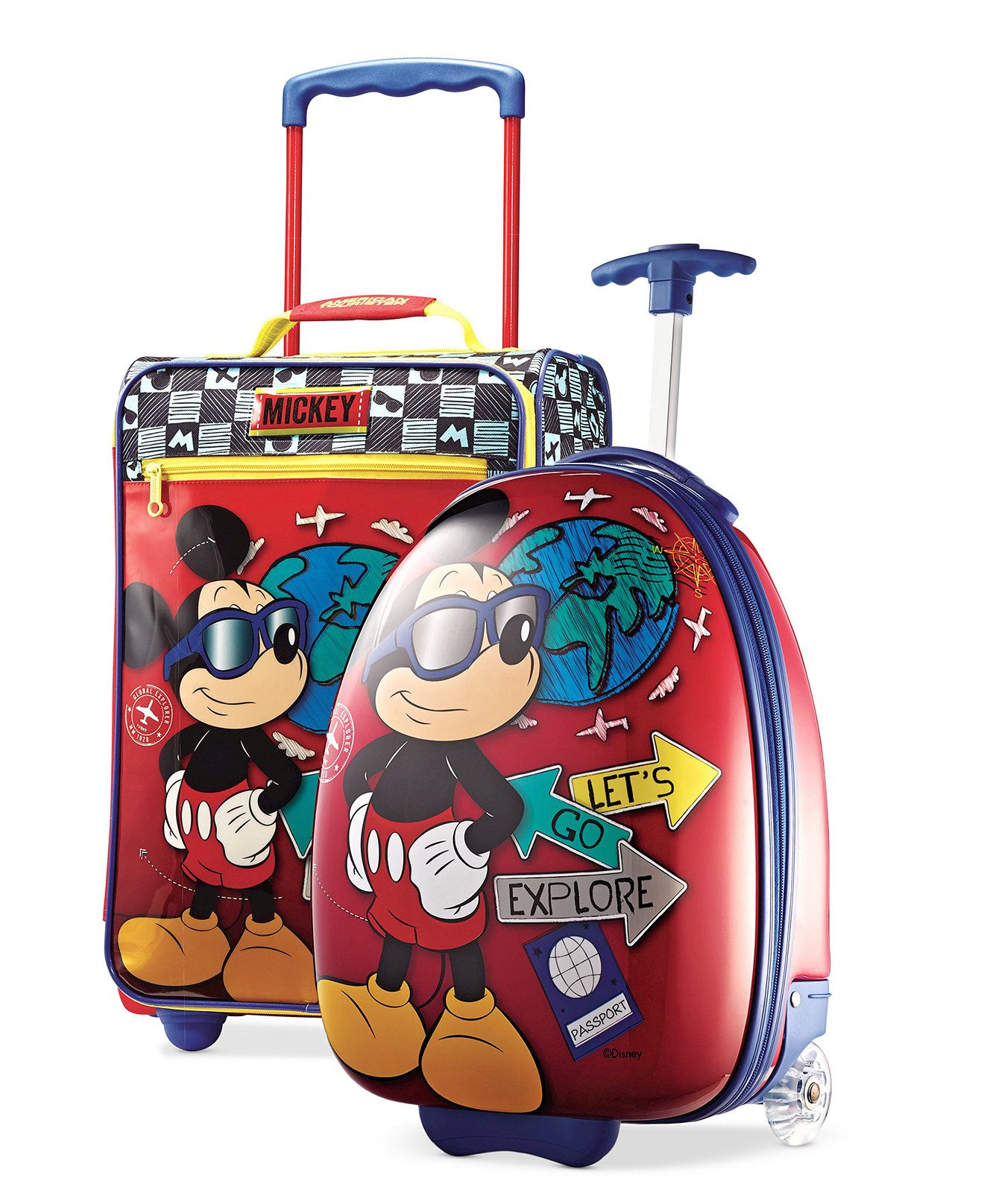 8a93fea6a7 Kids Mickey Mouse Luggage - Kellys Luggage