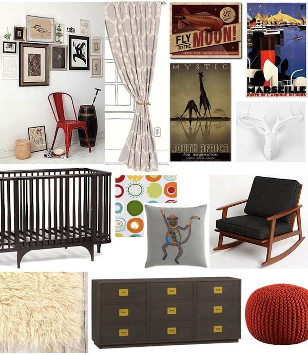 Mid Century Modern Kids Bedroom Ideas: {nursery Inspiration} Retro Travel + Mid-century Mod