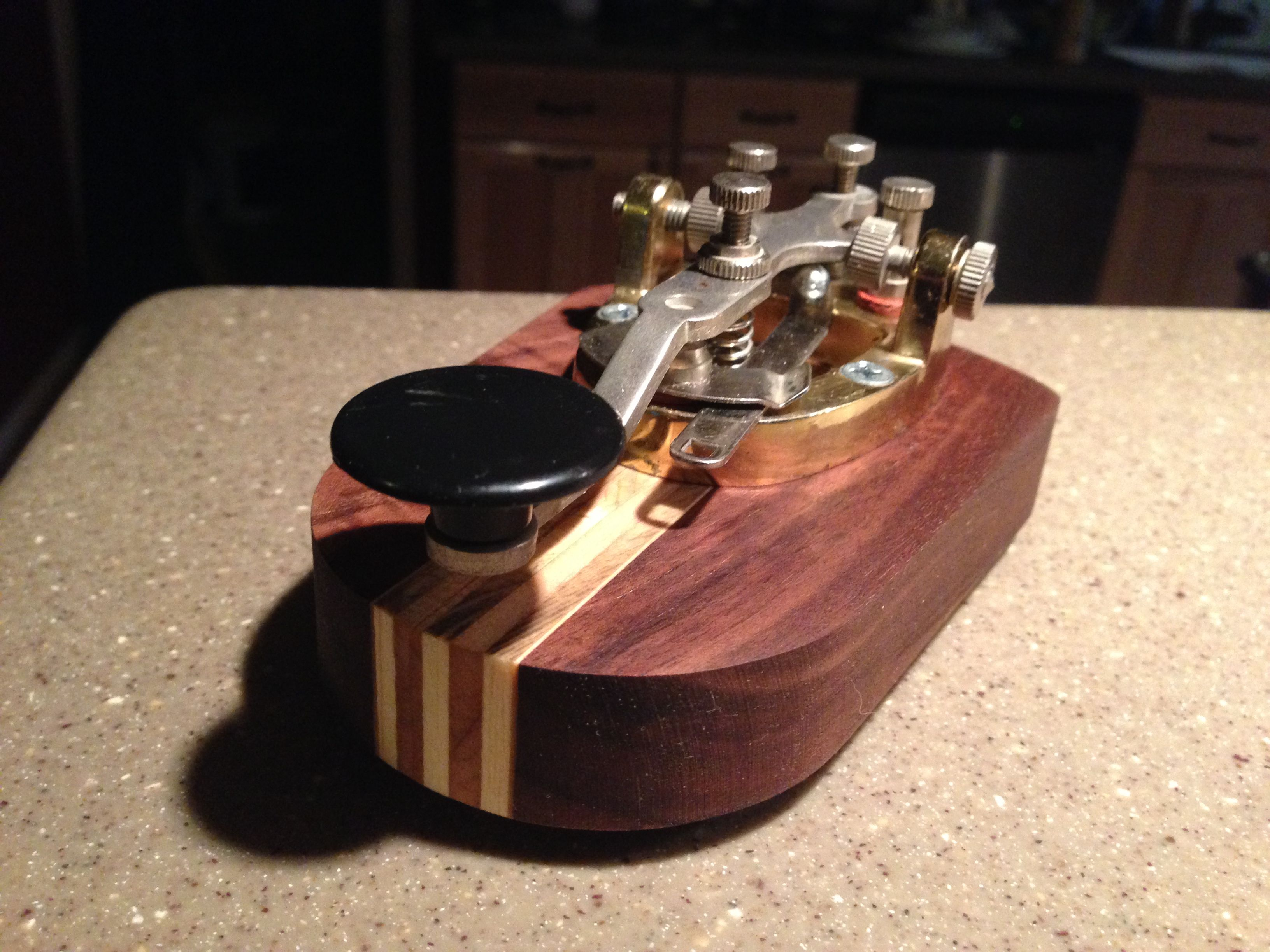 Custom CW Morse Code Telegraph Straight Key, fully