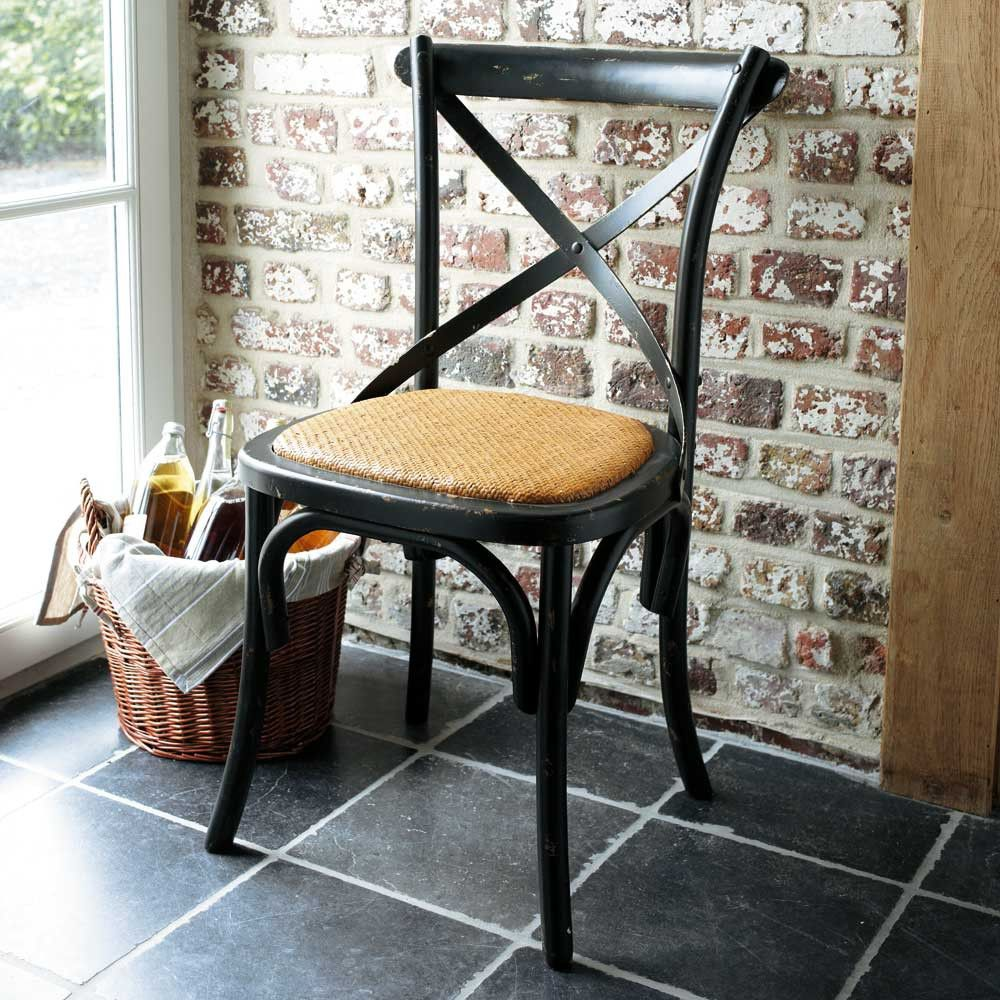 chaise en rotin naturel et