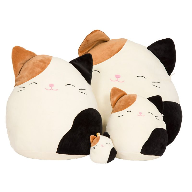 8 Cam Brown Black Cat Squishmallows Animal Pillows Cat Plush Toy Pillow Pals