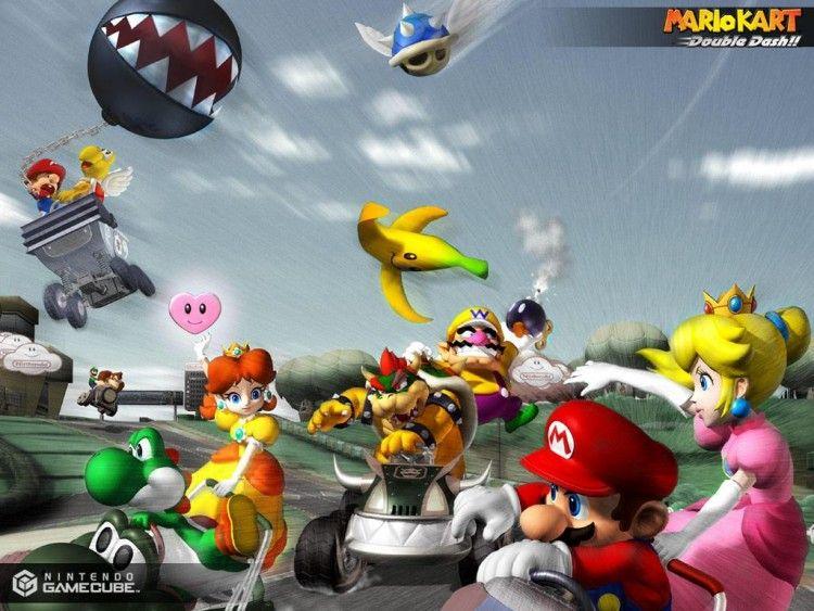 Fonds D Ecran Jeux Video Fonds D Ecran Mario Kart Double Dash Tous En Kart Par Angelo95 Hebus Com Mario Kart Mario Et Luigi Mario