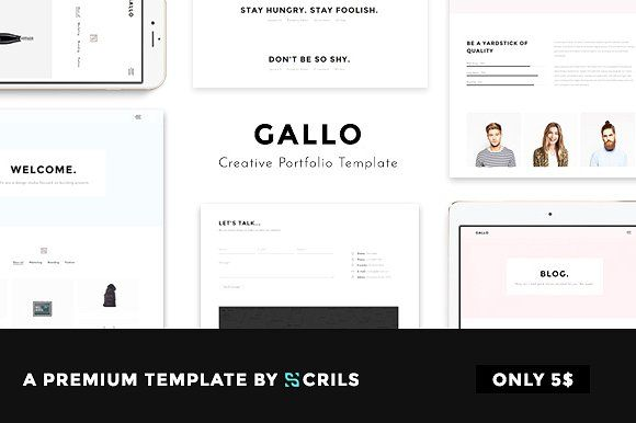 Gallo Creative Portfolio Template by scrils on @creativemarket ...