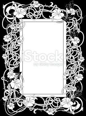 Art Nouveau frame Royalty Free Stock Vector Art Illustration