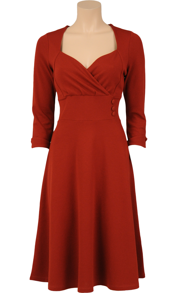 c4c8df95a0 King Louie by Very Cherry - 1940 s Isidora dress Sienna in Milano Crepe