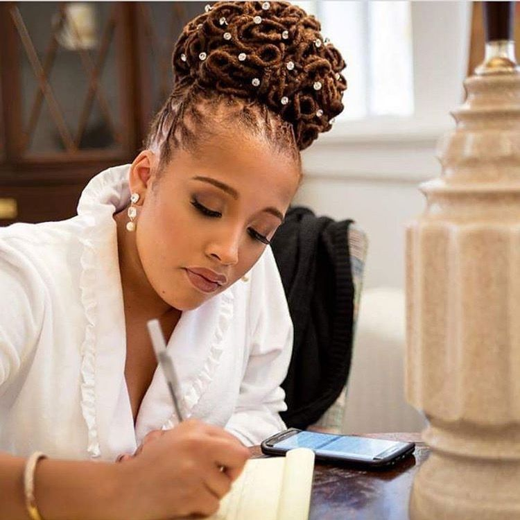 Pin by black busy on hair braids locs twists pinterest loc hairstyles wedding hairstyles natural hairdreadlock pmusecretfo Images