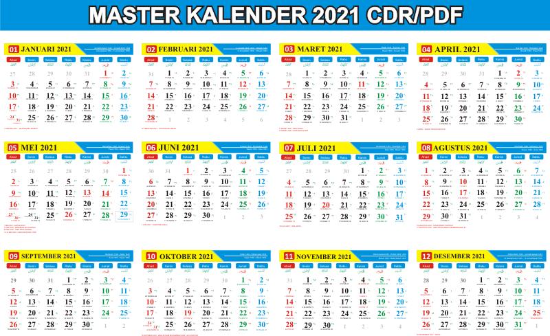 Kalender 2021 Indonesia Lengkap Dengan Hari Libur Nasional ...