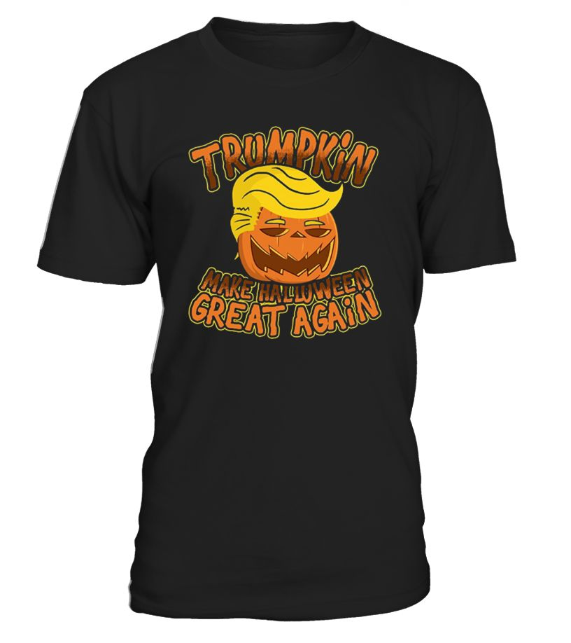 Do you want to make Halloween great again? If so, you need this Trumpkin pumpkin tee in your Halloween party this year. Grab it as a gift, as a Halloween costume, or any other gathering you can think of.   Trumpkin Make Halloween Great Again Funny Politics T-Shirt is designed and printed to be fitted. For a more baggy fit, please order a size up.
