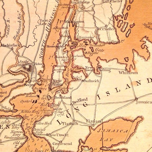 Detail Of Faden S 1776 Engraving A Topographical Map Of Hudson S