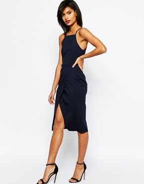 ASOS Pencil Dress with wrap skirt