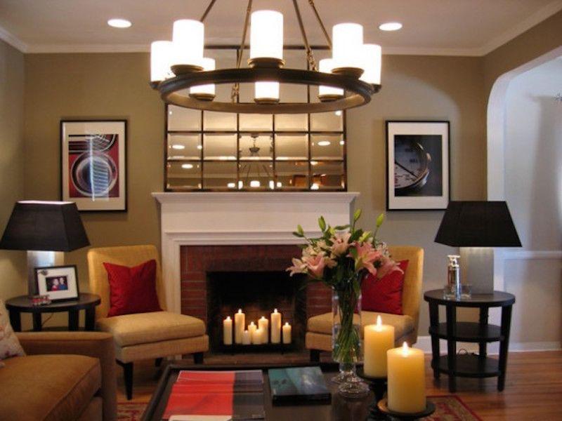 Romantic Theme Fireplace Wall