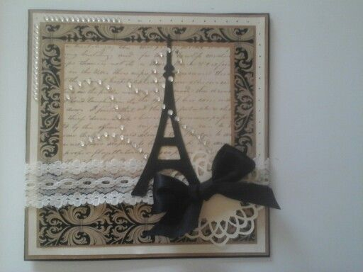 Sharyn birthday 2016 inspired by https://www.pinterest.com/pin/300685712602467332/ brother scan n cut eiffel tower and medallion