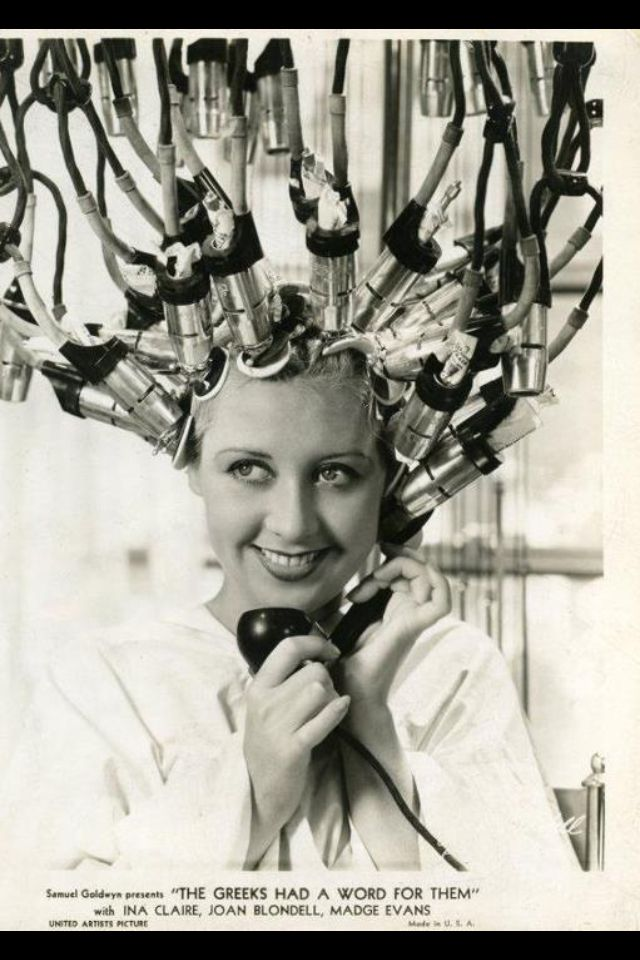 Old Days In Hairdressing So Glad It Was Before My Time Vintage Hair Salons Vintage Hair Dryer Vintage Beauty Salon