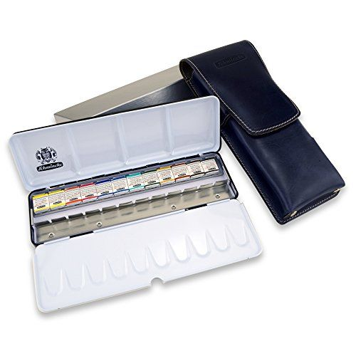 Schmincke Horadam Aquarell Metal Set Of 12 Half Pans With Pencil