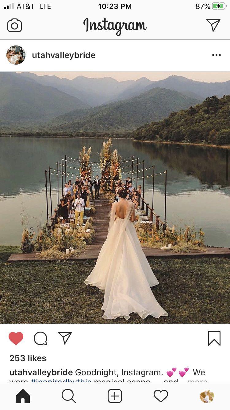 Pin By Raffie Lee On Wedding Ceremony Decor Inspiration In 2020 Lake Wedding Loverly Weddings Lakeside Wedding