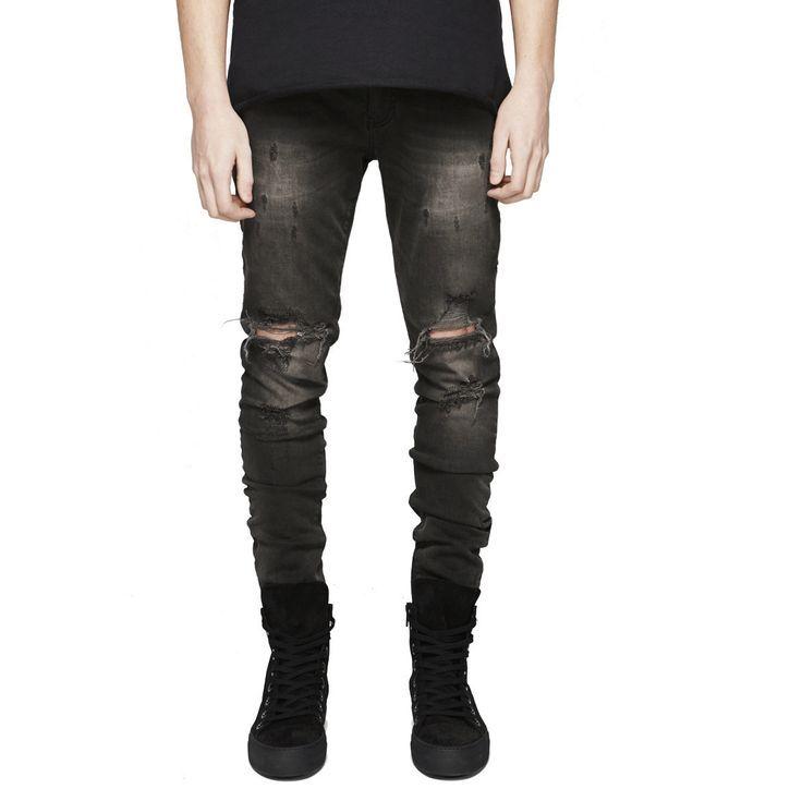 Description Product Name Fashion Slim Fit Hole Zipper Cowboy Jeans