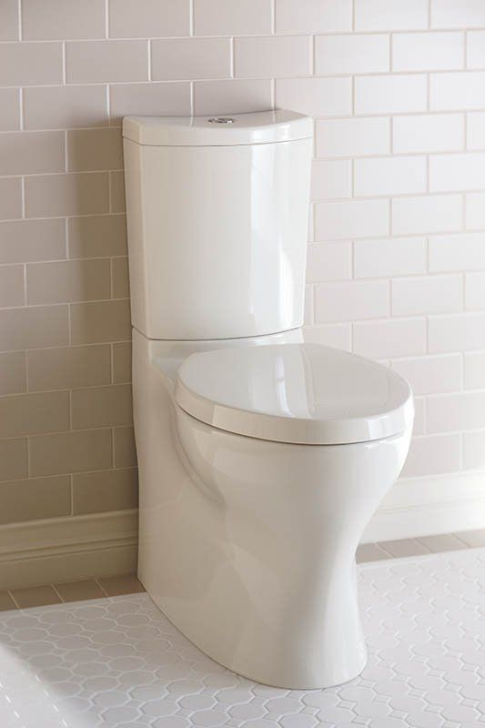 Kohler K-3723-0 Persuade Curv Comfort Height Two-Piece Elongated Toilet Toilet seat not included White