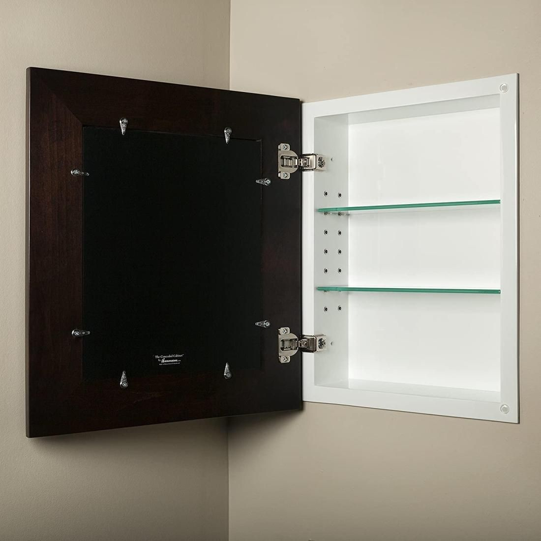14x18 Concealed Medicine Cabinet Large A Recessed Mirrorless Medicine Cabinet With A Picture In 2020 Medicine Cabinet Mirror In Wall Medicine Cabinet Picture Frames