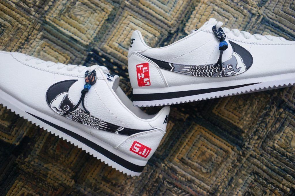 "cheaper c961f 29a61 Custom Nike Cortez ""Koinobori"" - EU Kicks  Sneaker Magazine"