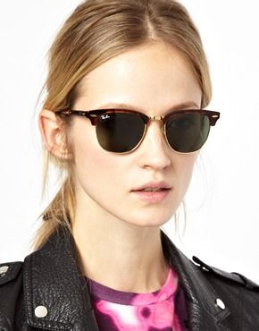 ray ban clubmaster for women  Image 3 of Ray-Ban Foldable Clubmaster Sunglasses