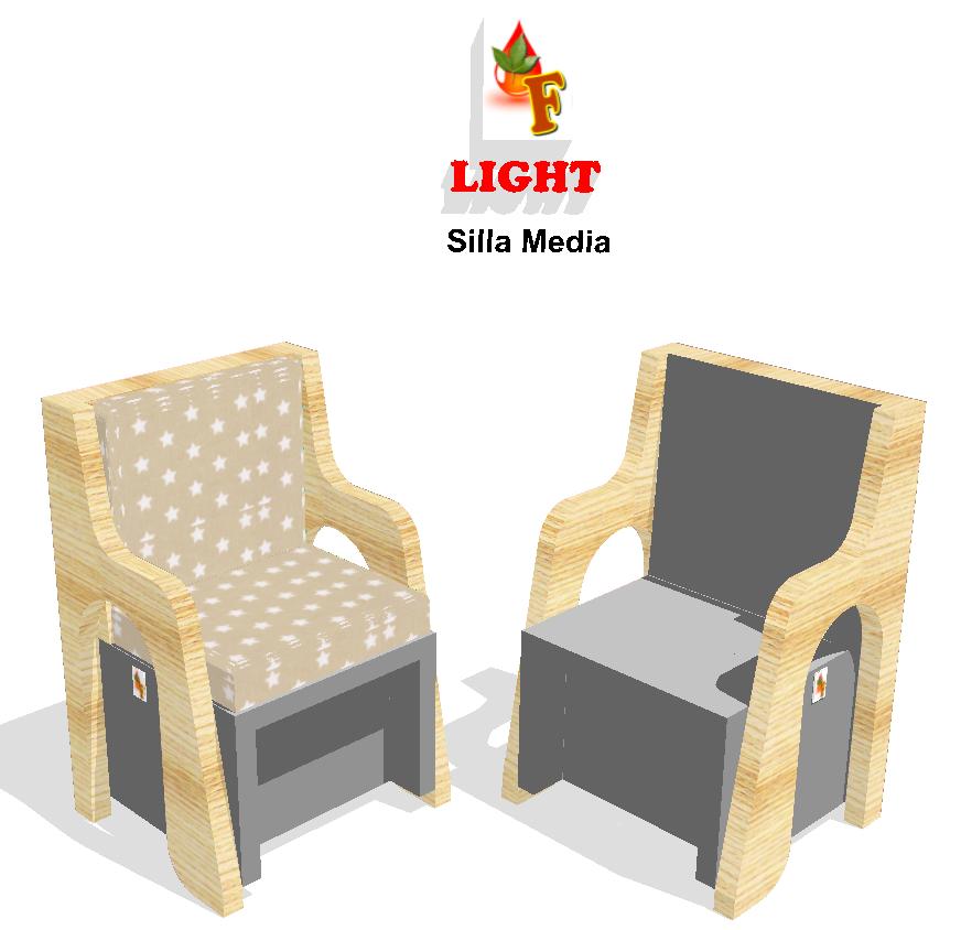 "Línea ""LIGHT"". Silla Media. Dimensiones: 66/57/95"