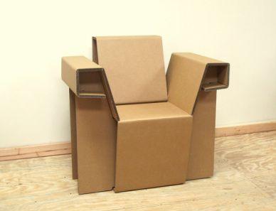 More Cardboard Furniture The Chairigami Arm Chair 150 Cardboard Furniture Geometric Furniture Diy Cardboard Furniture