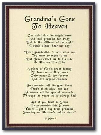 Grandmas Gone To Heaven Grandma Grandpa Grandma Quotes Quotes