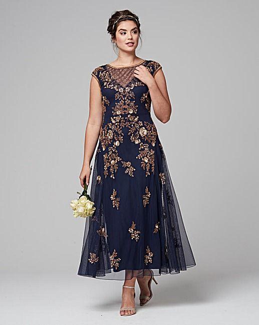 27bfa1683486 JOANNA HOPE Embellished Maxi Dress