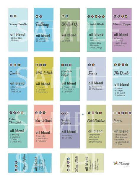 Image result for essential oil printable recipe labels Essential oils