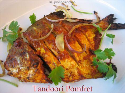 Tandoori Pomfret Recipe Baked Silver Pomfret Vavval Meen Fish