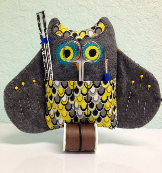 Owl Sewing Kit by fascinatingfindsforu on Etsy, $15.00