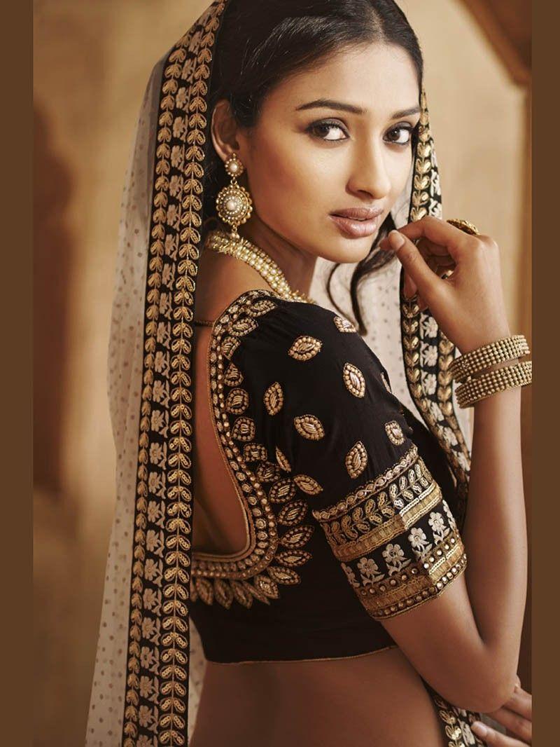 6dd6c36a4bc2 Black with Offwhite Lehenga Saree Nakkashi Designer Saree #LehengaSaree # Lehenga #Saree #Sari #IndianEthnic #PartywearSaree #WeddingWearSaree ...