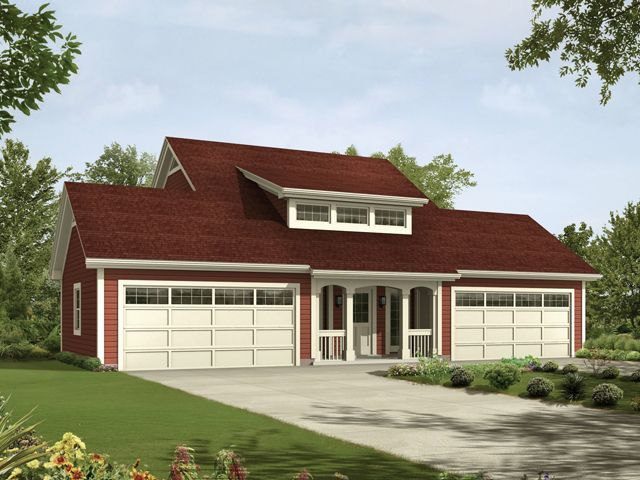 4 Car Apartment Garage With Style 1,026 Square Feet Building Height   25u0027  Roof