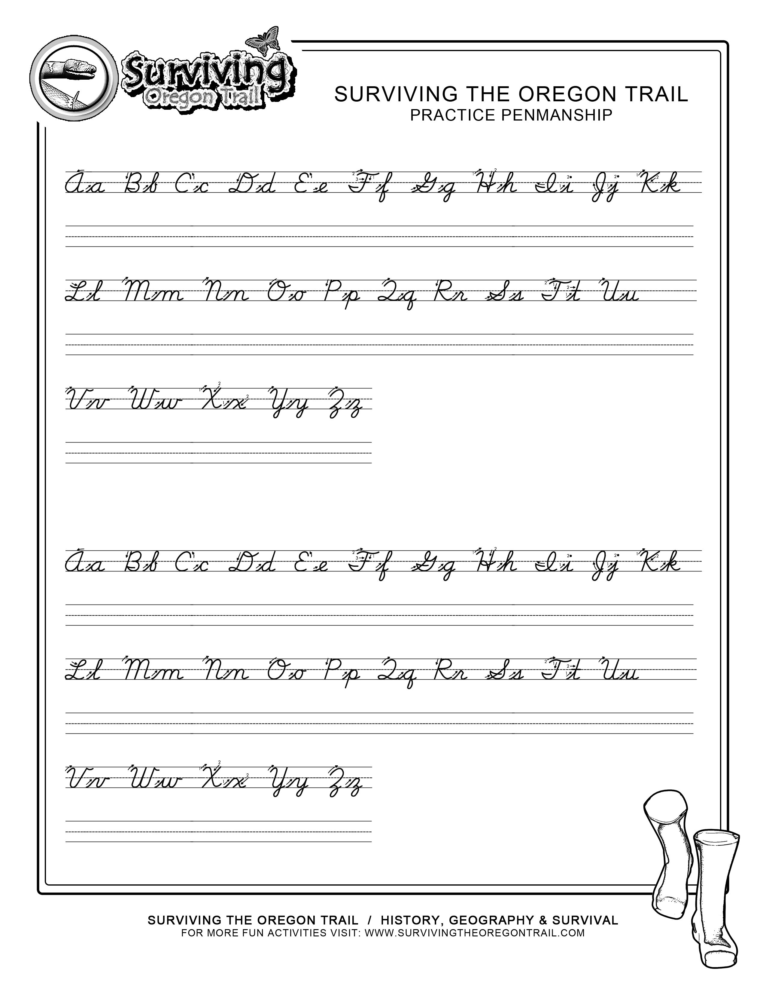 small resolution of Free Printable Cursive Pages