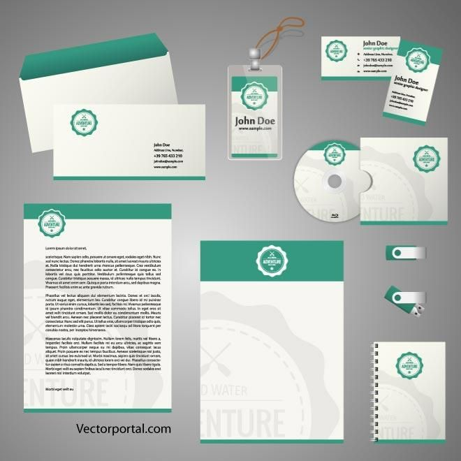 Stationery template for Adobe Illustrator. | Stationery vector ...