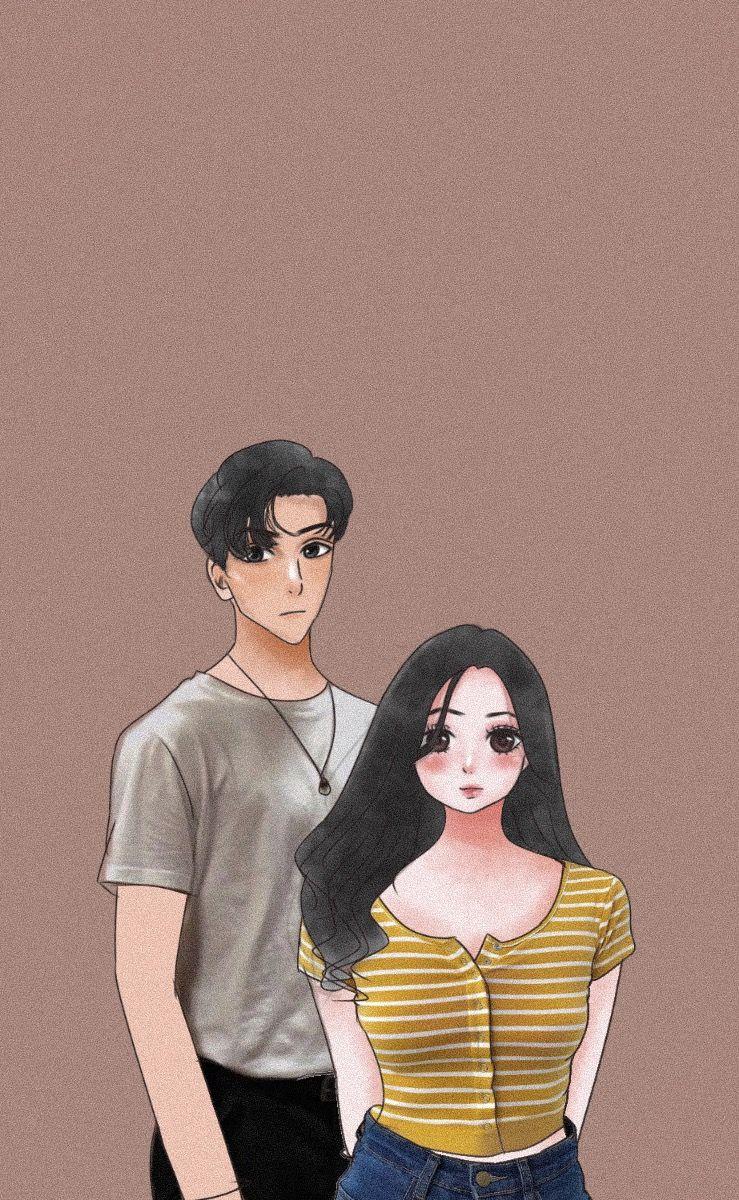 Cover Wattpad Couple Mentahan Ilustrasi Karakter Gambar Ilustrasi Lukisan