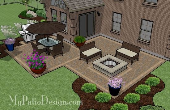 Paver patios on a budget outdoor space backyard patio for Outdoor living spaces on a budget