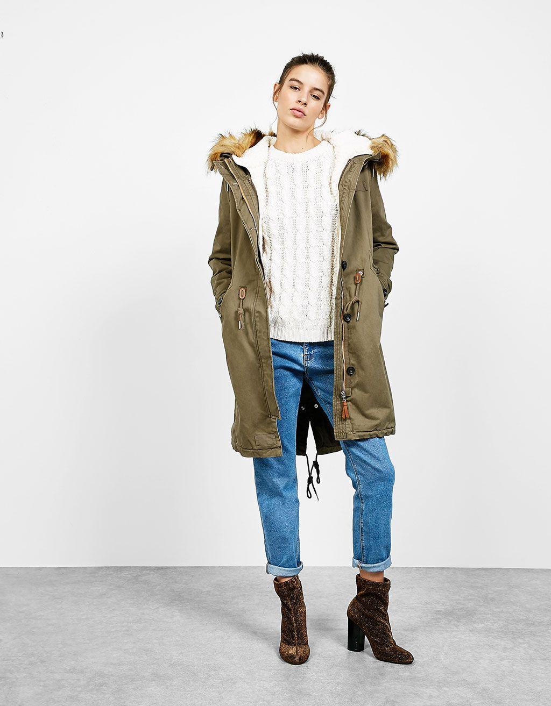 Bershka jeans mantel