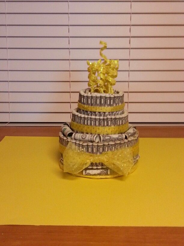 Birthday Money Cake  Money gift ideas  Pinterest  Money cake and ...