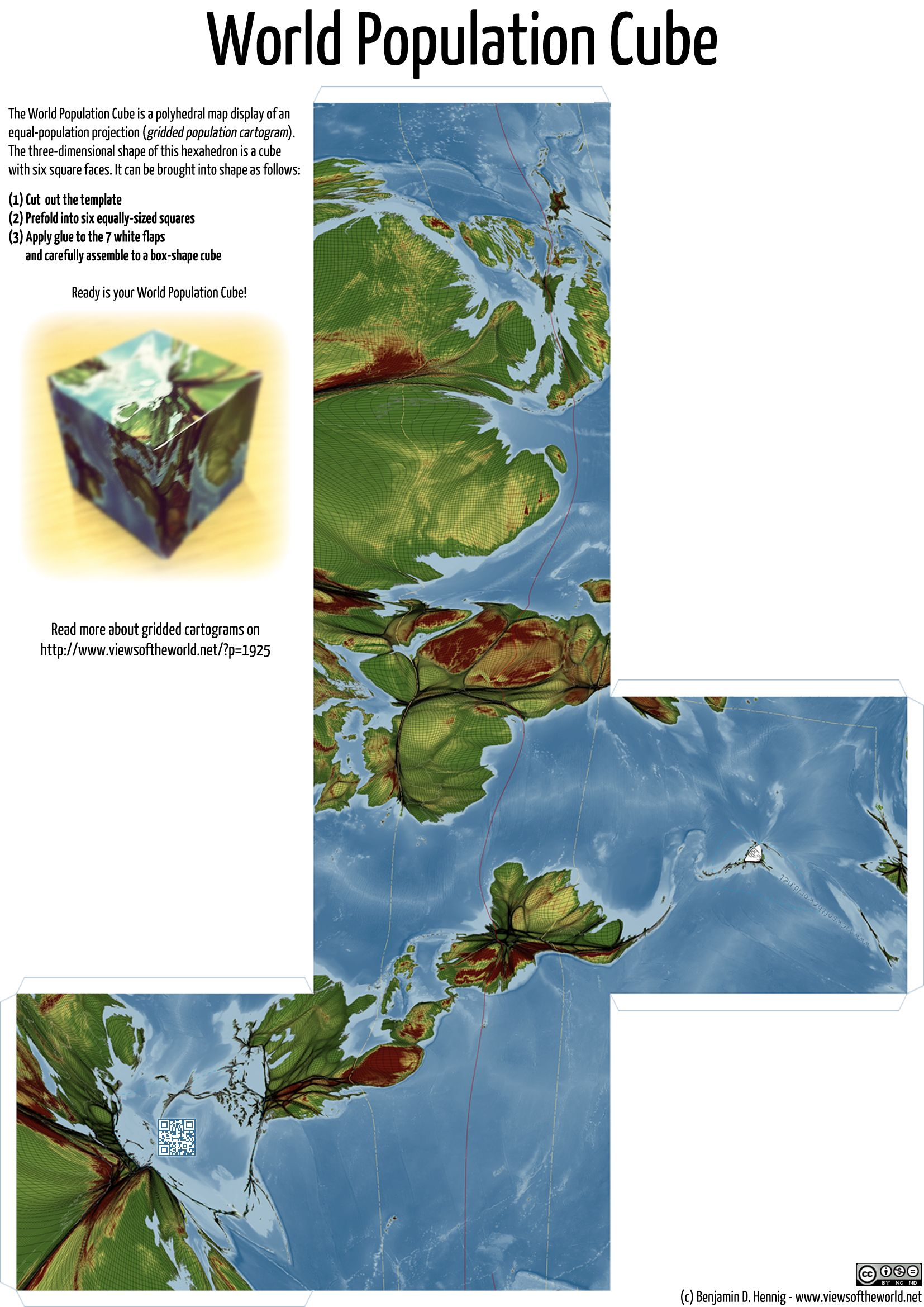 Worldpopulationcube you can print out this page fold it into a