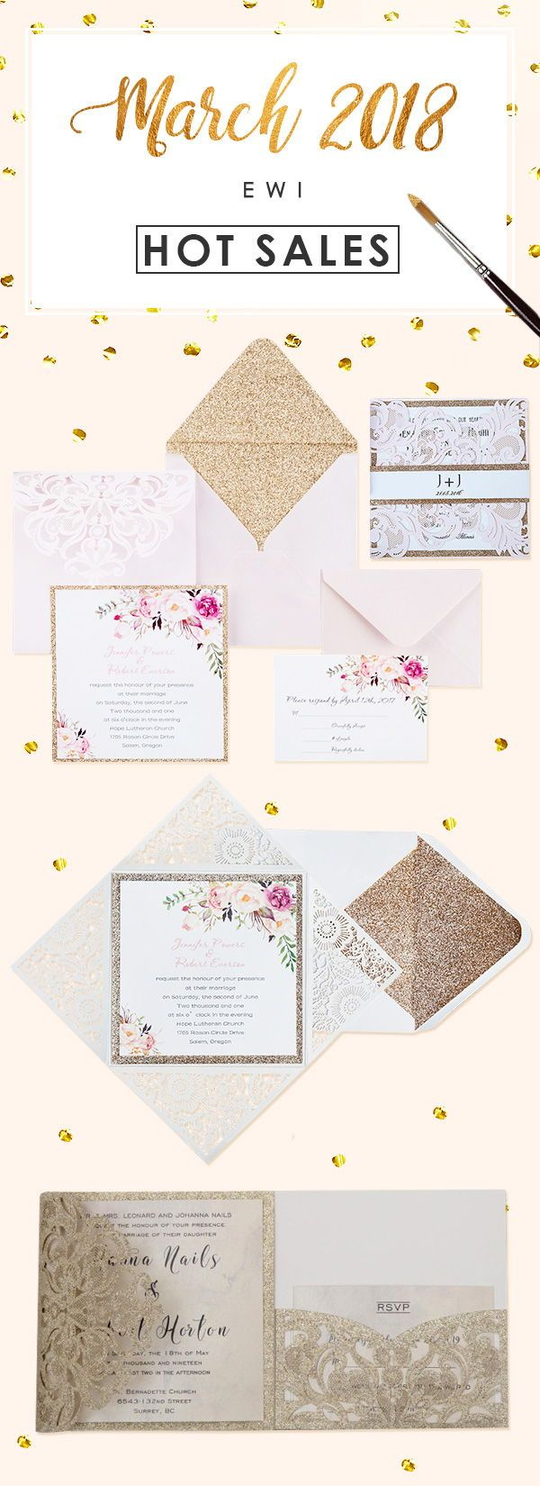Top 20 Hotsale Wedding Invitations from EWI | Weddings, Wedding and ...