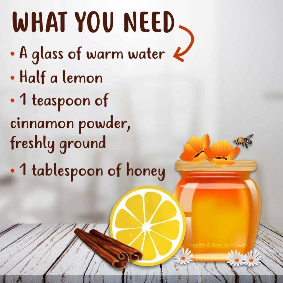 Put Cinnamon Powder In Glass, Squeeze Lemon, Add Honey Mix
