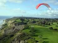 Looks like golf and paragliding, Woot!